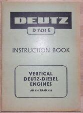 Deutz Motor Bedienungsanleitung AM 428 S/RAM 428