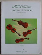 """Partition pour violon et piano, """"voyages en découvertes"""" vol.1"""