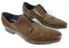 Brown leather wingtip brogue shoes uk 10 eu 44 super quality