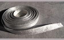 5 m  Lurexband Glitzerband Borte barock silber 12 mm breit