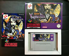 Vampire's Kiss Castlevania With Box SNES PAL Super Nintendo Repro