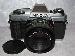 Minolta X-370 35mm SLR Film Camera w/ Minolta MD 50mm f1.7 Lens -Works Perfectly