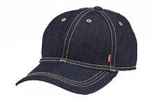 LEVIS DENIM BASEBALL CAP ADJUSTABLE STRAP AT BACK 219412 RED TAB - BLUE DENIM