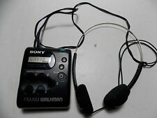 Vintage Sony SRF-M33 Portable Battery Oper AM FM Radio Walkman 10 Memory Presets