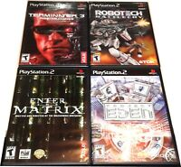 Original Playstation 2 PS2 4 Game lot Robotech Matrix Terminator 3 Project Eden