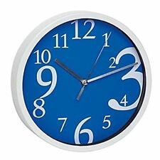 Relojes de pared azules redondos