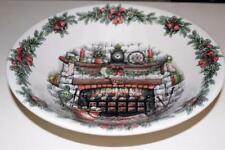 ROYAL STAFFORD CHRISTMAS EVE FIREPLACE STOCKINGS LARGE SERVING BOWL(s) -10""