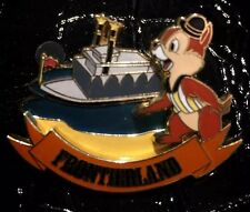 Completer LE Chip and & n Dale Frontierland Captain Sailor Riverboat Disney Pin