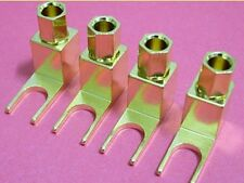 Un set di 4 BANANE spina / cavo per Spade Terminal Converter / ADATTATORI PER AMPERE