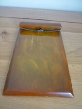 More details for art deco carvacraft bakelite phenolic notepad holder with spring clip