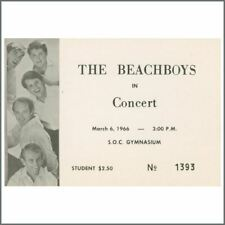 Beach Boys 1966 Southern Oregon State College Concert Ticket (Usa)