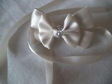 Gorgeous Cream/Ivory, Communion, Bridal, Diamante Ribbon bow hair clip