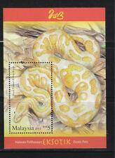 MALAYSIA 2013 EXOTIC PETS ROYAL PYTHON (YEAR OF SNAKE) RM5 SOUVENIR SHEET MINT