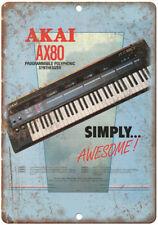 "AKAI AX80 Polyphonic Shynthesizer Vintage Ad10"" x 7"" Metal Sign E23"