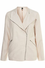 Topshop Pale Pink Oversized Drape Biker Jacket UK 12 EURO 40 US 8 BNWT RRP £75