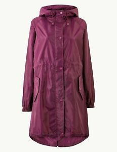 M&S COLLECTION  Long Pack Away Parka SIZE SMALL