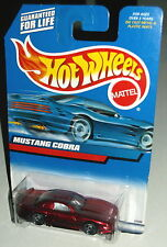 Hot Wheels 2000 Collector #121 Mustang Cobra Mtflk Metallic Red Black SBs 27088