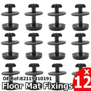 12xSET Twist Lock Floor Mat Carpet Clips For BMW / MINI E36 E46 E38 E39 Holder