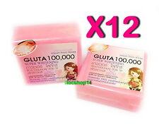 12pcs Gluta 100000mg Soap Super Whitening Beauty Body Skin freckles, acne, scars