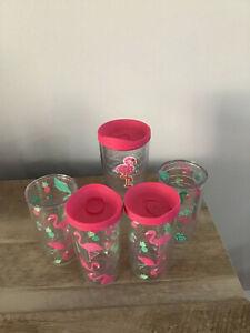 5 Tervis Tumblers Flamingo Pattern 4 16 oz 1 24 oz