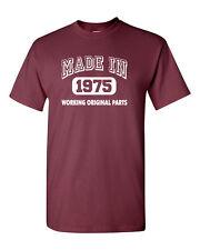 MADE IN 1975 Working Original Parts 40th Birthday 40 Year's Men;s Tee Shirt 1108