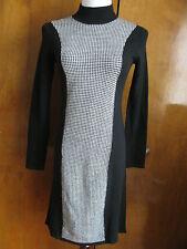 Ralph Lauren women's black cream merino wool NWT dress PSmall
