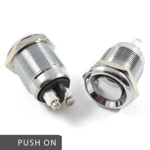 Waterproof Stainless Steel Push Button Switch Momentary Push On 20 AMP Rated 12v