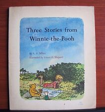 Three Stories from Winnie-the-Pooh by AA Milne- 1966 Scholastic Paperback  TJ864