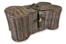 Accessory Wicker Storage Basket in Bone Shape Home Décor Dog Pet Large Bin Box