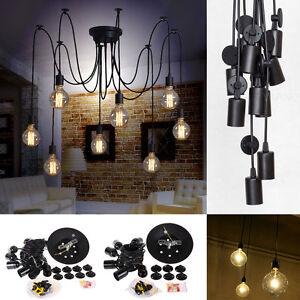 Vintage Edison Industrial Steampunk Loft Chandelier Ceiling Pendant Light Lamp
