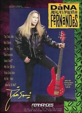 Dana Strum (Slaughter) Fernandes APB-100 5-string Bass guitar 8 x 11 ad print