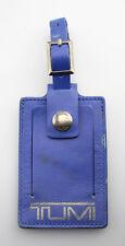 TUMI 'Alpha' Blue / Silver Leather Luggage Tag - Large