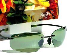 NEW* Maui Jim KUPUNA Titanium w POLARIZED HT Green lens Sunglass Mala HT742-02