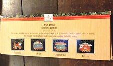 Hallmark Keepsake Ornaments - 1991 Trestle display + 4 Cars - B013
