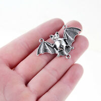10PC Flying Vampire Bat Charm Connector Tibetan Silver Fit DIY Jewelry Craft