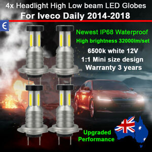 4x 360° 32000LM Headlight Globe For Iveco Daily 2014-2018 High Low Beam Bulb Kit
