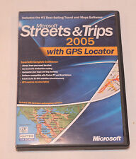 MICROSOFT STREETS & TRIPS 2005 PROGRAM CD