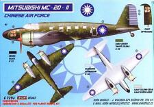 KORA Models 1/72 MITSUBISHI MC-20-II TOPSY Nationalist Chinese AF Resin Set
