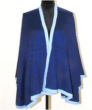 100% Cashmere Poncho Cape Coat Wool Shawl Women Blanket Jacket Oversize Cardigan