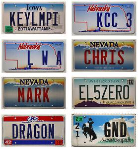 -1- Flaches USA Nummernschild Vanity US License Plate / Kennzeichen Blech-Schild