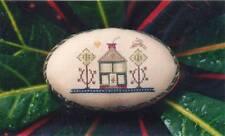 Brightneedle TALL TREES Cross Stitch Chart w/ Green Hand Dyed Floss ~ folk art