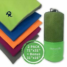 Travel towel microfiber (GREEN) 2 packs
