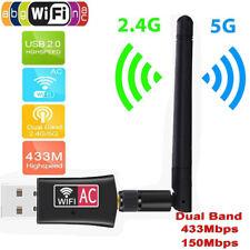 600Mbps 802.11ac Wireless Wifi Adapter Antenna Dual Band 5G USB Wifi Dongle WPS