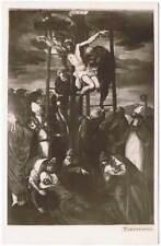 Postal Descendimiento de Cristo. Tintoretto. Ed. Argenta