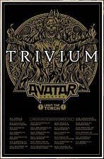 TRIVIUM   AVATAR   LIGHT THE TORCH Tour 2018 Ltd Ed RARE Poster+FREE Rock Poster