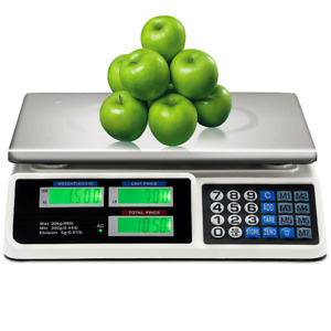66 lbs Digital Commercial Price Scale Food Fruit Electronic Counting LCD Display