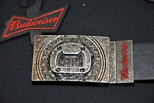 """BUDWEISER Men's Adjustable and Reversible Belt Color: Black/Brown; Size 38"""""""
