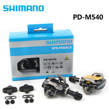 2pcs PD-M540 SPD Road Bike MTB Clipless Pedals + SM-SH51 Cleats Black
