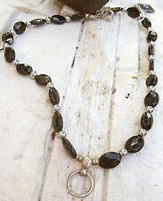 dunkelperle© edels halsband ring der o handgeschmiedeter anhänger silber 925