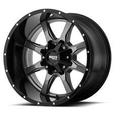 20 Inch Grey Black Wheels Rims Chevy 5 Lug Truck LIFTED Jeep Wrangler JK 20x12 4